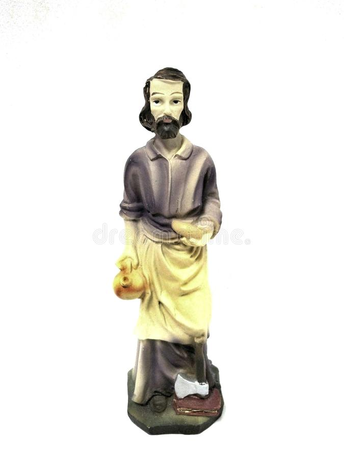 圣若瑟雕象 免版税库存图片