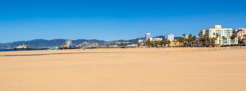 圣莫尼卡海滩在洛杉矶 免版税库存照片