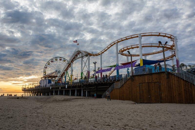 圣莫尼卡码头的和平的公园在圣莫尼卡,加州 图库摄影