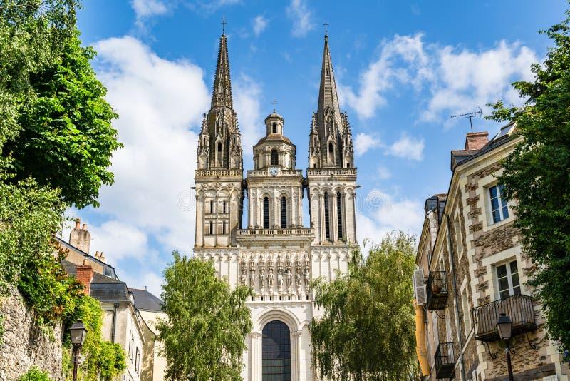 圣莫里斯大教堂愤怒,法国 免版税库存照片