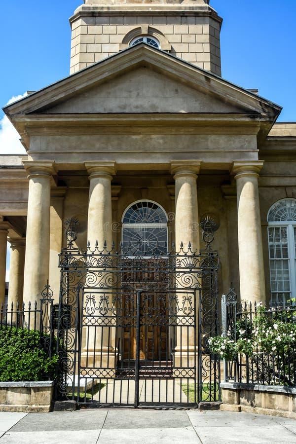 圣菲利普的教会,查尔斯顿, SC 免版税库存照片
