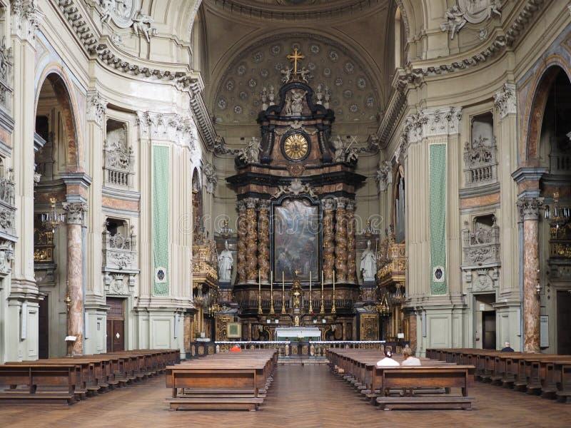 圣菲利波Neri教会在都灵 免版税库存照片
