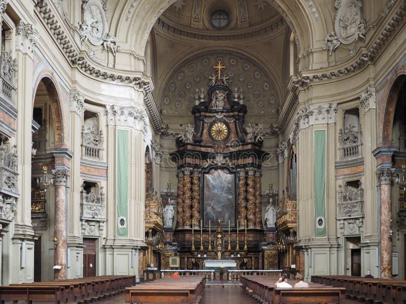 圣菲利波Neri教会在都灵 免版税库存图片