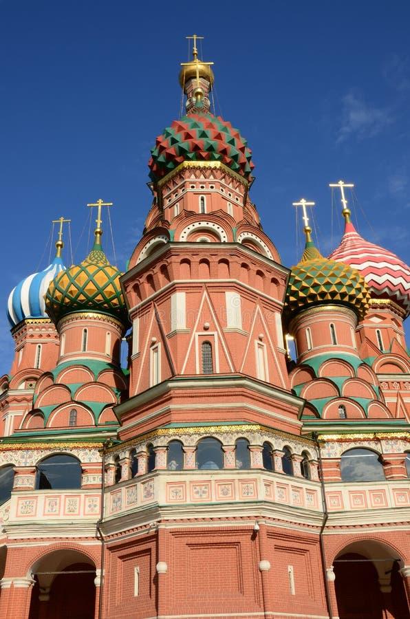 圣蓬蒿` s大教堂-红场莫斯科地标外在看法  免版税图库摄影