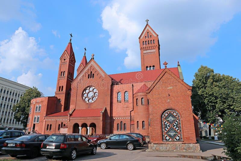 圣西梅昂和圣埃琳娜教会在米斯克 免版税库存图片