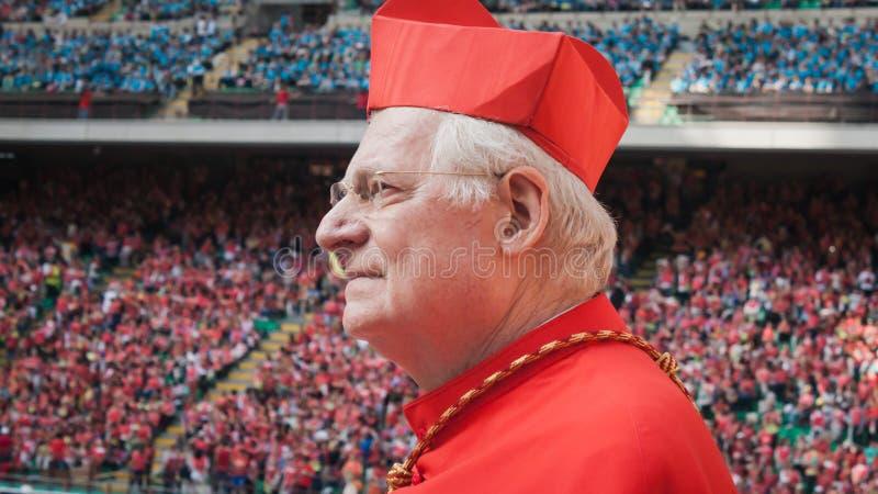 圣西罗体育场的Scola大主教在米兰,意大利 库存图片
