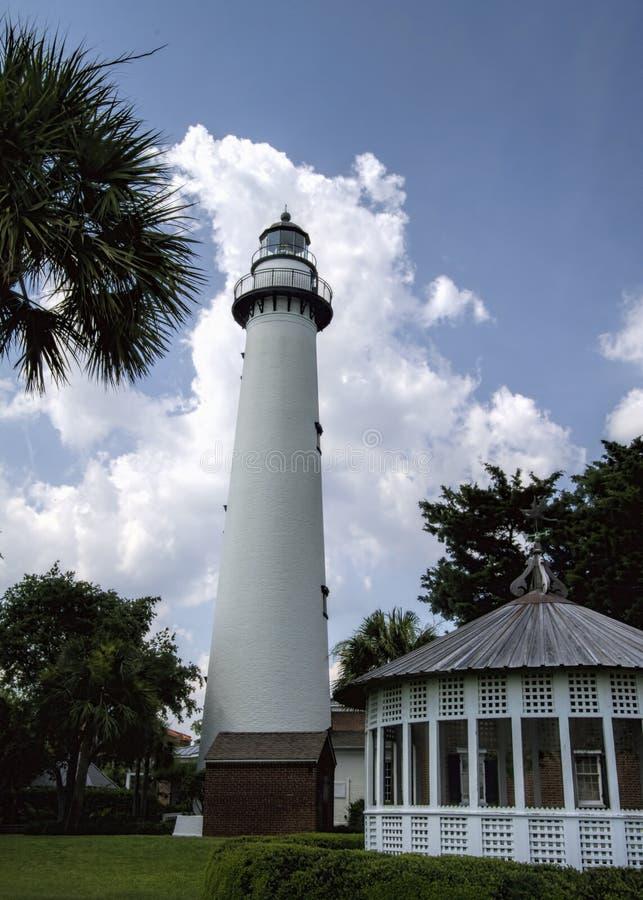 圣西门的海岛乔治亚灯塔2 库存照片