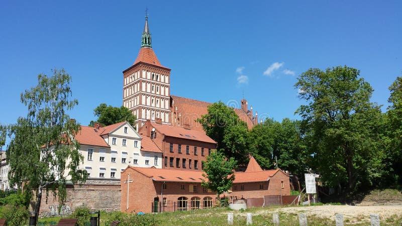 圣詹姆斯大教堂在奥尔什丁,波兰 库存图片