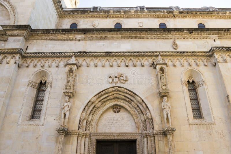 圣詹姆斯的大教堂 克罗地亚sibenik 免版税库存图片