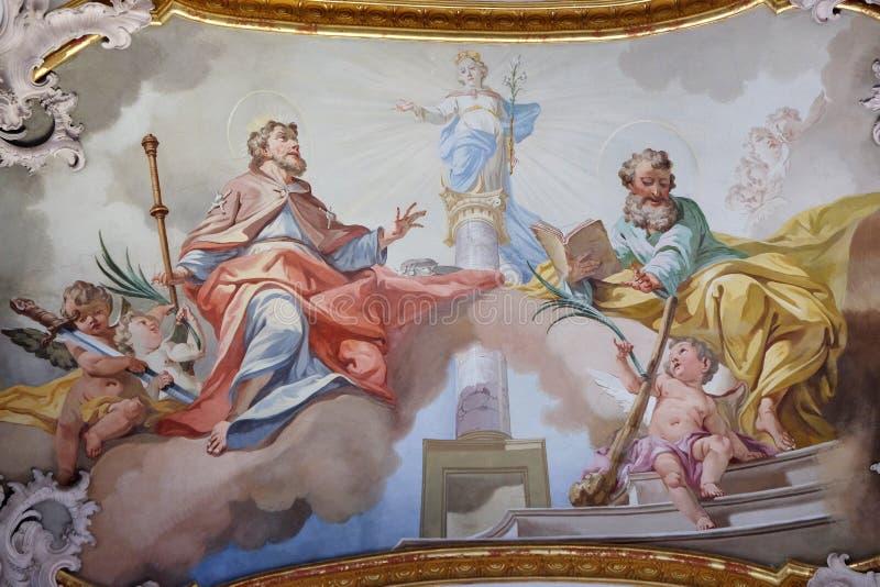 圣詹姆斯长辈和圣徒Judas Thaddeus 免版税图库摄影