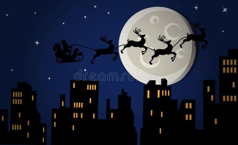 圣诞前夕晚上 库存例证