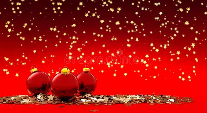 圣诞前夕礼品节假日许多装饰品 库存例证