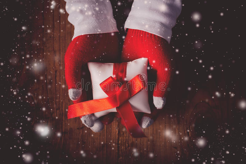 圣诞前夕礼物 库存照片