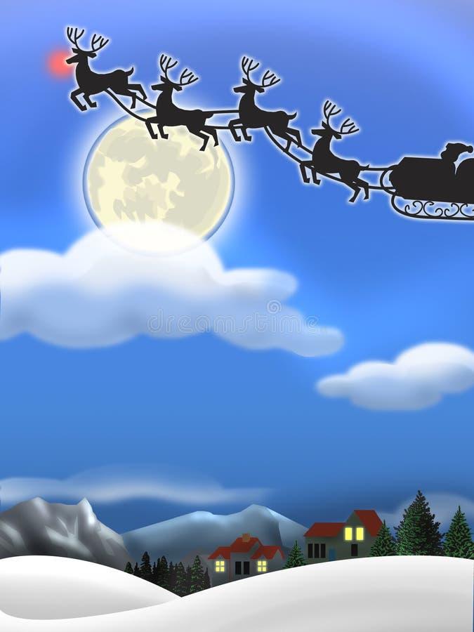 圣诞前夕 向量例证