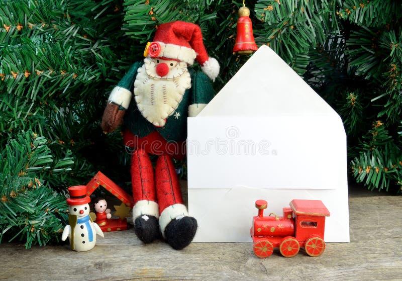 圣诞卡ânote 库存图片