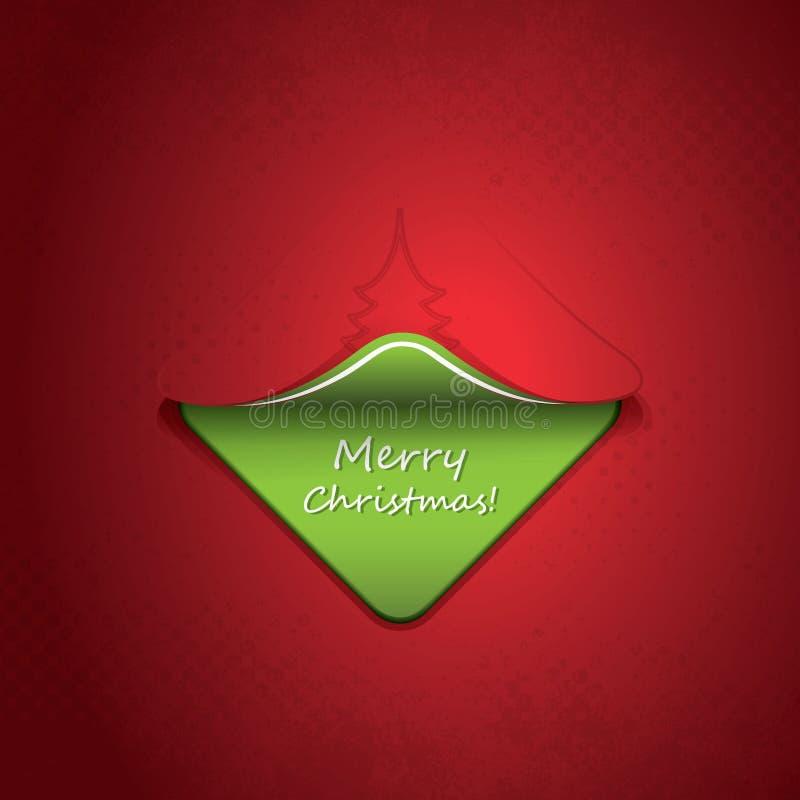 圣诞卡、传单或者盖子设计 向量例证