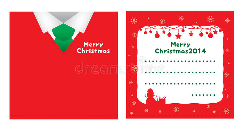 圣诞卡红色随员设计 库存例证