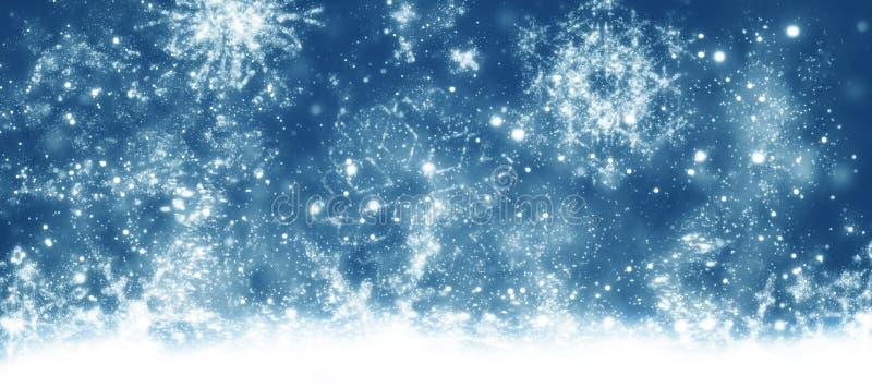 圣诞卡,蓝色背景 向量例证