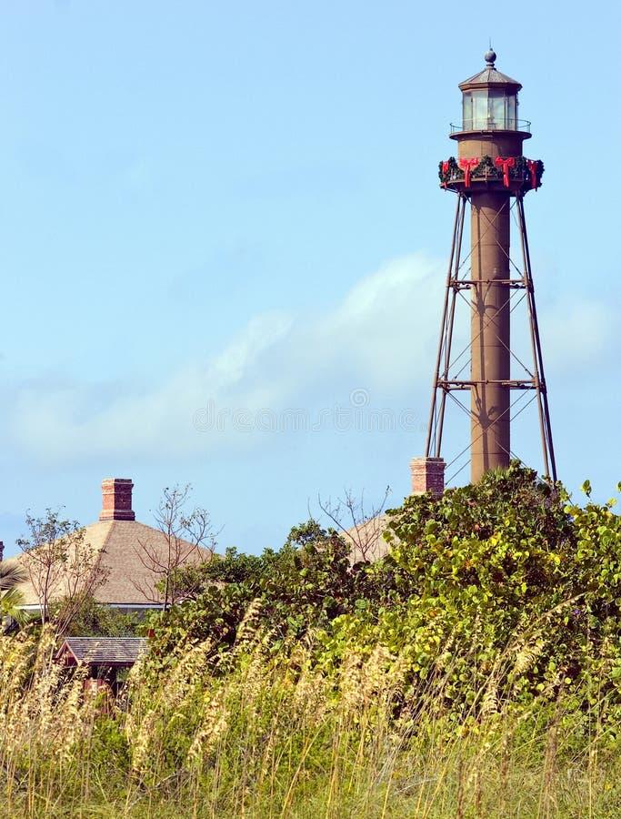 圣诞岛灯塔sanibel 免版税库存照片