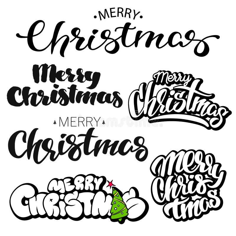 圣诞快乐书信设计集合 也corel凹道例证向量 皇族释放例证