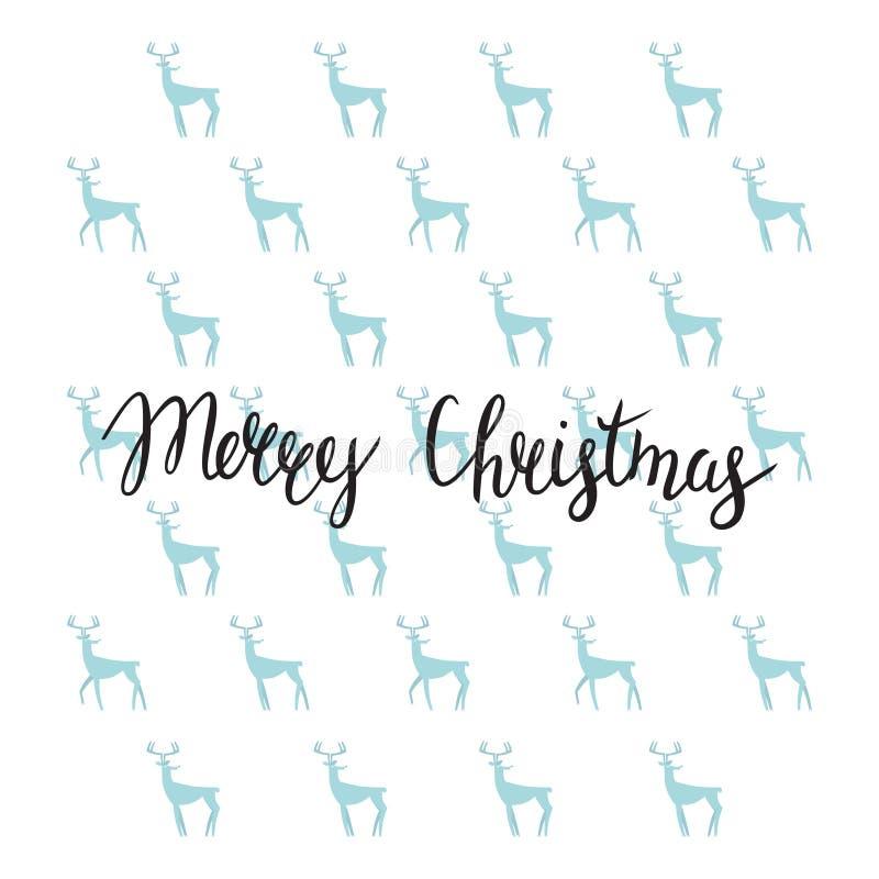 圣诞快乐书信设计 手工制造书法 库存例证