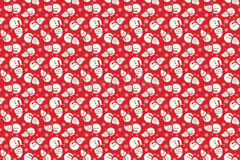 圣诞快乐仿造无缝 圣诞老人背景 红色xmas墙纸 库存例证