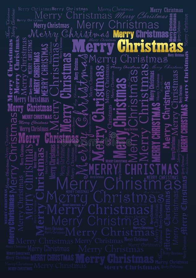 圣诞快乐假日背景 向量例证