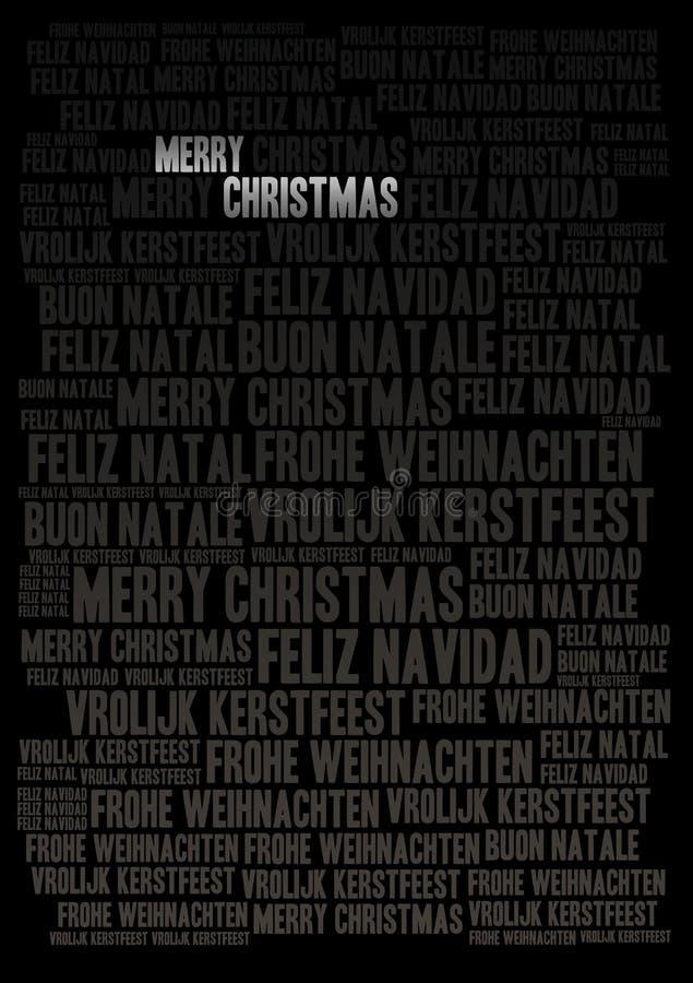 圣诞快乐假日背景 皇族释放例证
