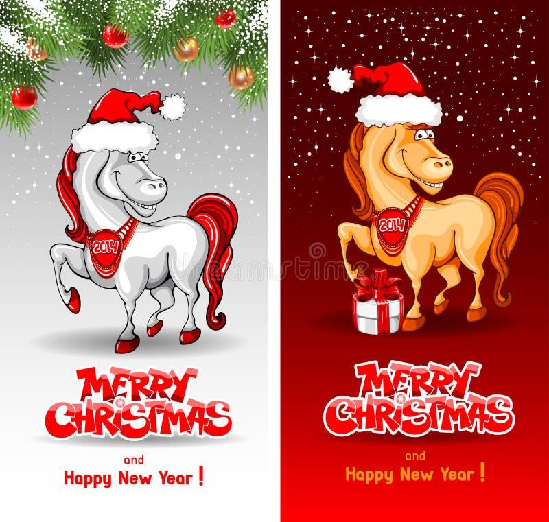 圣诞快乐卡片 向量例证