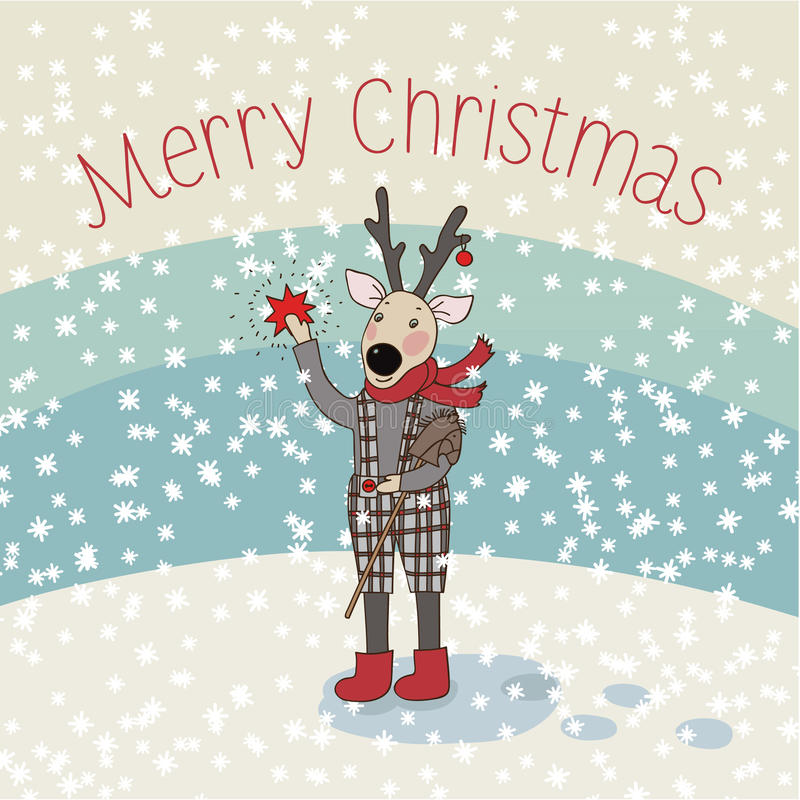 圣诞快乐卡片 库存例证