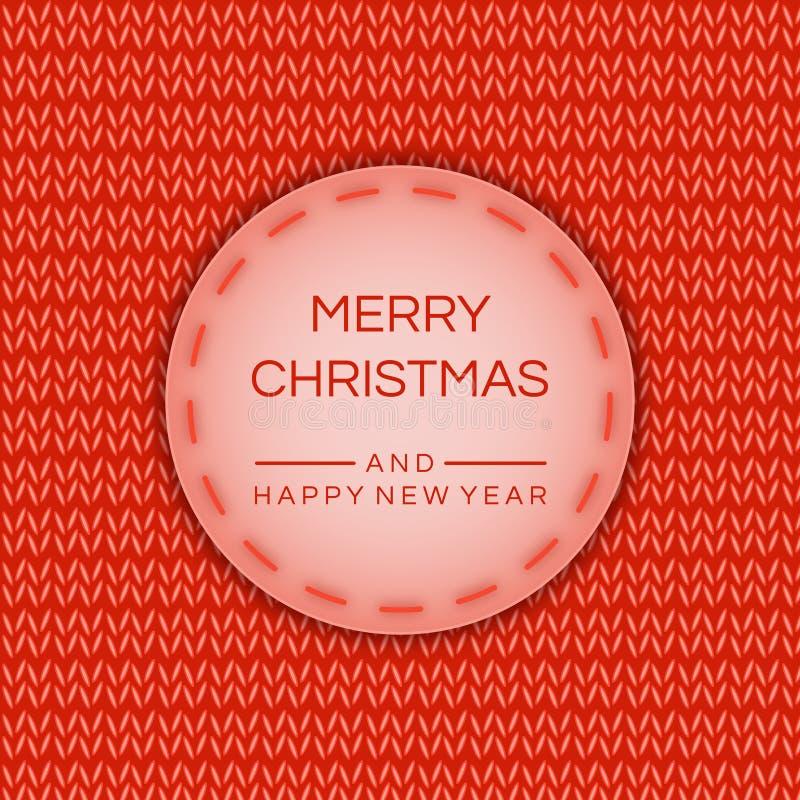 圣诞快乐和愉快的新的2019年横幅,在被编织的作用的海报 传染媒介储蓄背景 文件eps10 皇族释放例证