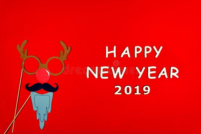 圣诞快乐和愉快的2019新年背景 库存照片