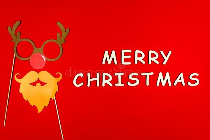 圣诞快乐和愉快的2019新年背景 免版税库存图片