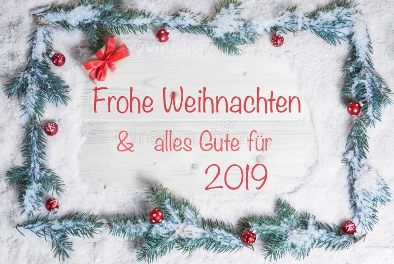 圣诞快乐和所有最好在2019年 免版税图库摄影