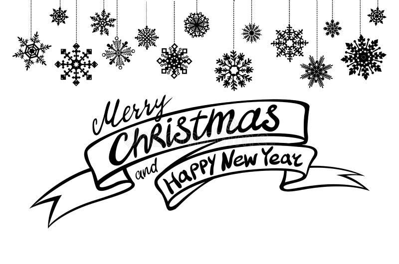 圣诞快乐和新年好书信设计 向量例证eps10