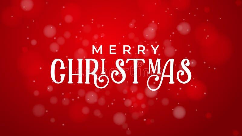 圣诞快乐和新年好红色背景 库存例证