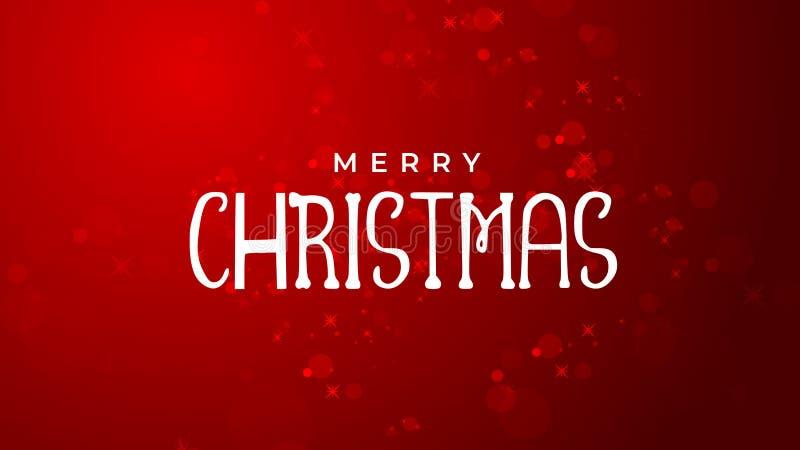 圣诞快乐和新年好红色背景 皇族释放例证