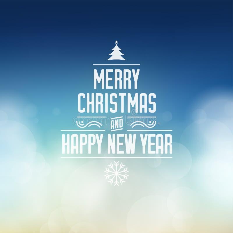 圣诞快乐和新年好问候 库存例证