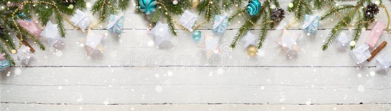 圣诞快乐和新年好 库存图片