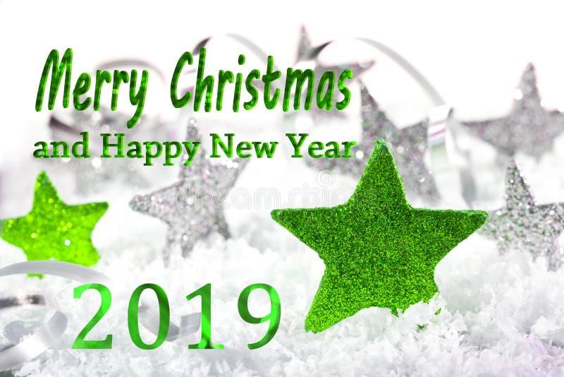 圣诞快乐和新年好201 库存图片