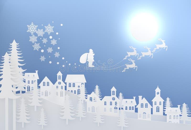 圣诞快乐和新年快乐印刷在发光的Xmas b 皇族释放例证