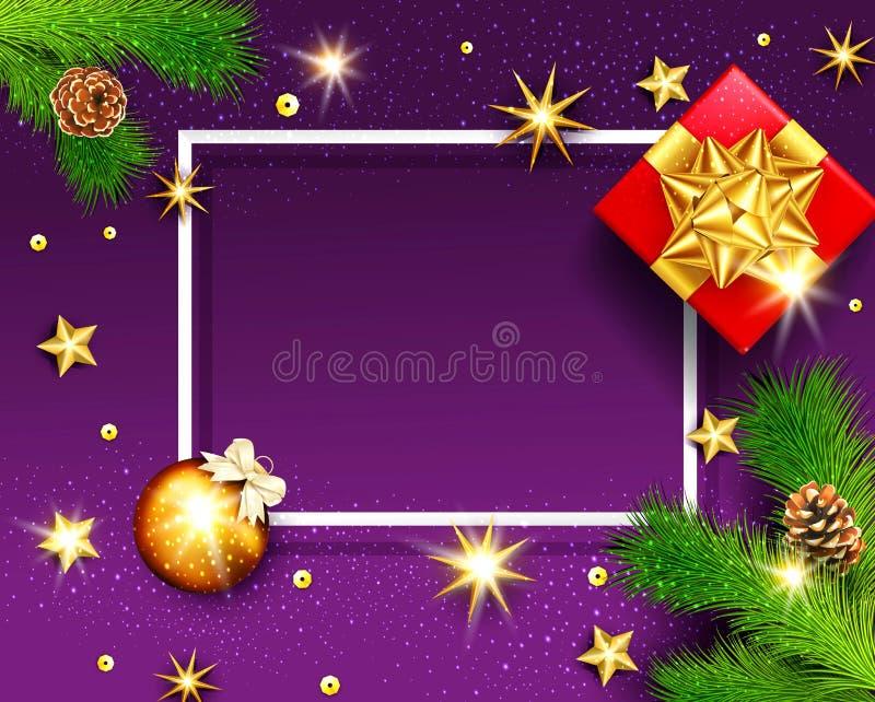 圣诞快乐和新年快乐的传染媒介例证 Gre 向量例证