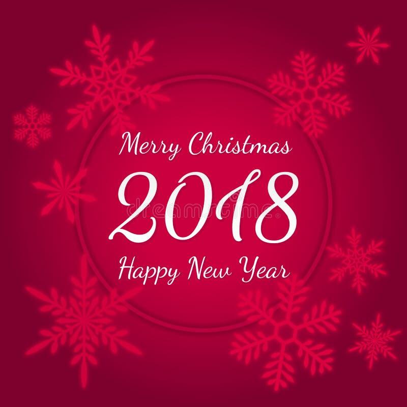 圣诞快乐和新年快乐2018年贺卡 横幅例证向量xmas 皇族释放例证