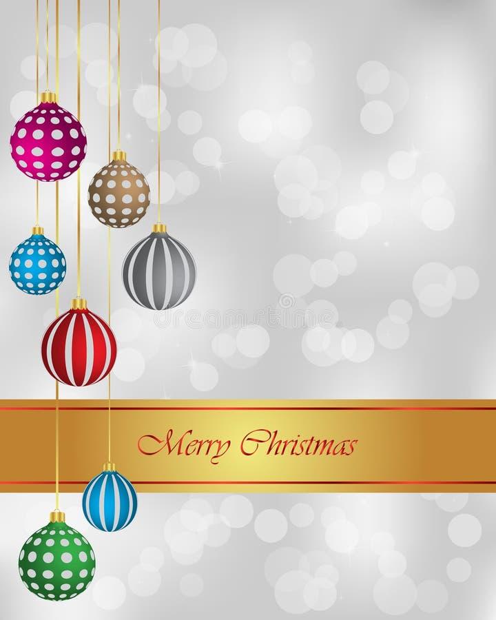 圣诞快乐和新年背景 皇族释放例证