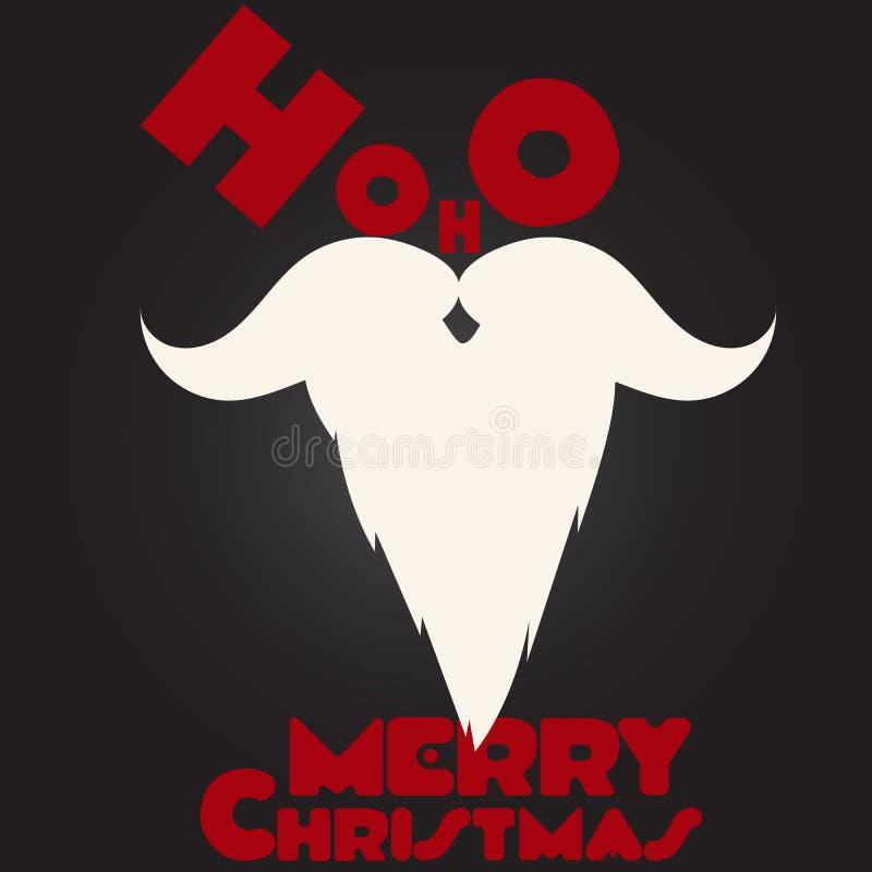 圣诞快乐圣诞老人` s髭和胡子 皇族释放例证