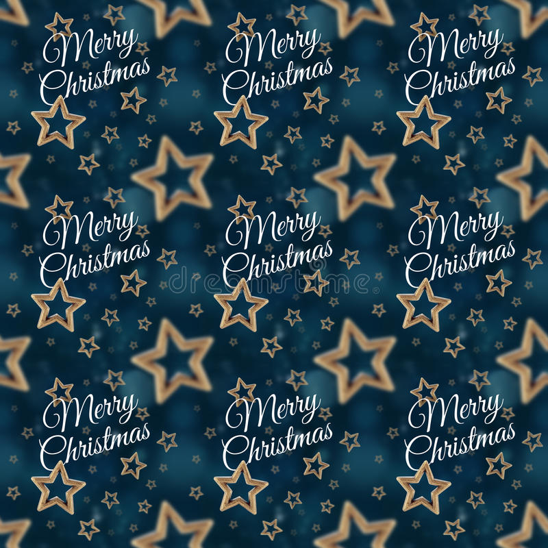圣诞快乐在夜担任主角无缝的样式2 免版税图库摄影