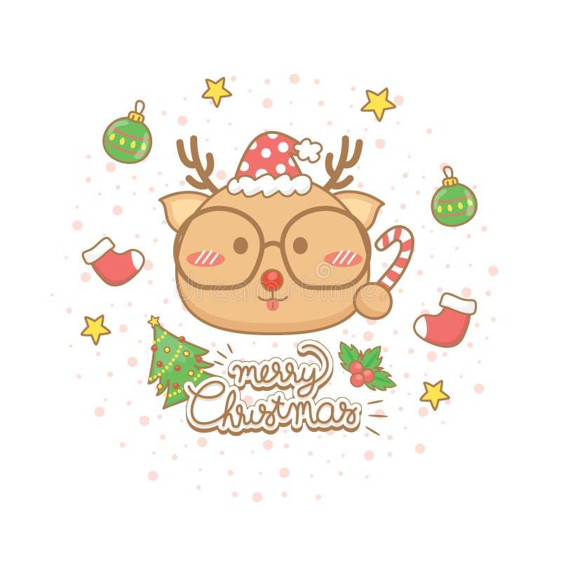 圣诞快乐庆祝贺卡集合 库存图片