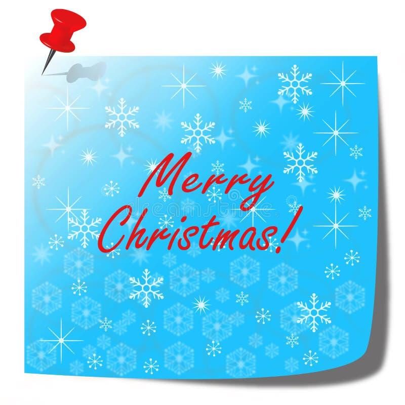 圣诞快乐悲伤的音符纸牌 向量例证