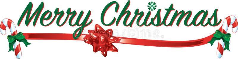 圣诞快乐文本 皇族释放例证