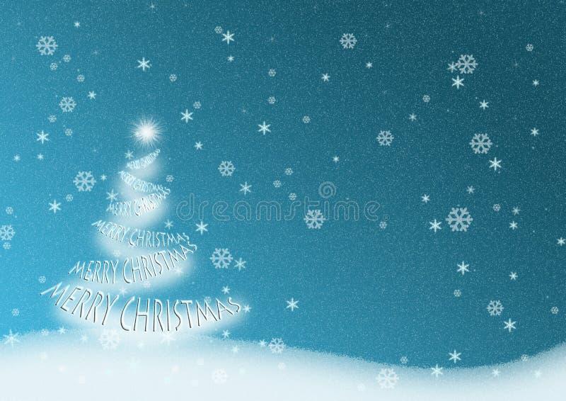 圣诞快乐树 皇族释放例证
